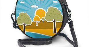 Damen SchultertascheUmhaengetasche Retro Stil mit Wolken Sonnenhimmel und Baeumen 310x165 - Damen Schultertasche/Umhängetasche, Retro-Stil, mit Wolken, Sonnenhimmel und Bäumen