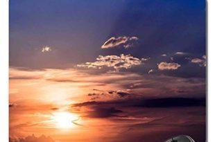 Mauspad - Sonnenuntergang Sonnenhimmel Untergehende Sonnenwolken Abendhimmel
